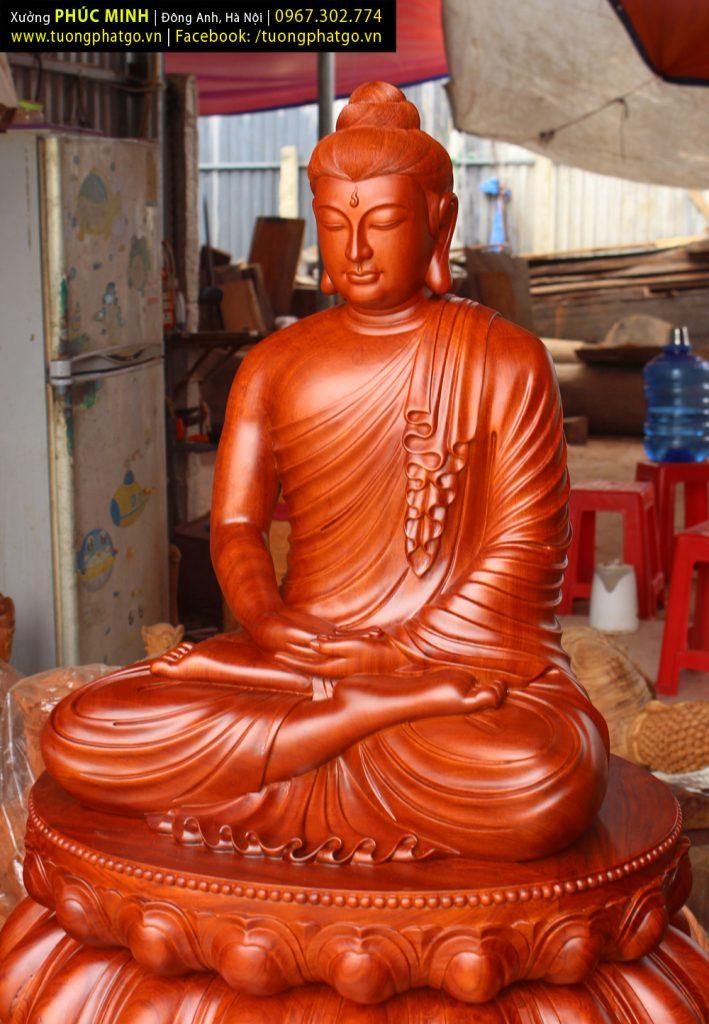 Tượng Phật Thích Ca lối Gandhara ngồi cao 1 mét làm sẵn, đã được thỉnh