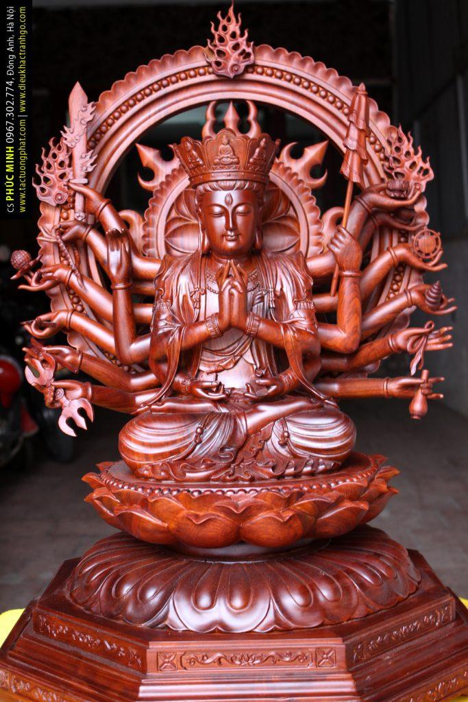 Tôn tượng Phật Mẫu Chuẩn Đề, gỗ Hương cao từ 81cm-3,6 mét của CS Phúc Minh, phiên bản duy nhất Việt Nam