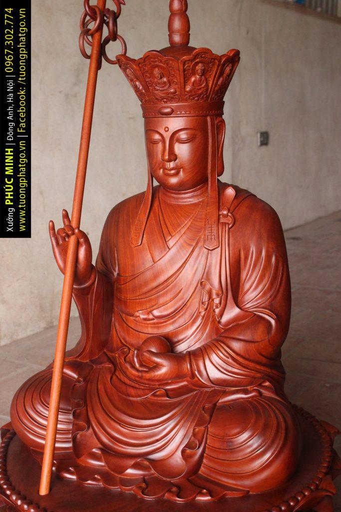 Tôn tượng Địa tạng Vương Bồ tát ngồi cao 81cm