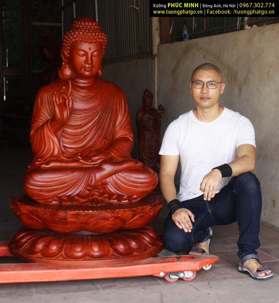 Tôn tượng Phật Thích Ca Niêm hoa vi tiếu