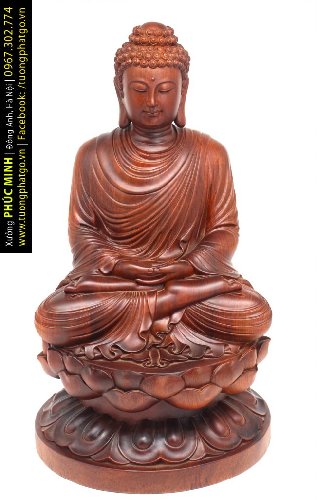 Tôn tượng Phật Thích Ca lối Thiền tông ngồi cao 60cm