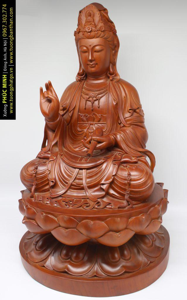 Tôn tượng Quan âm Bồ tát ngồi cao 60cm