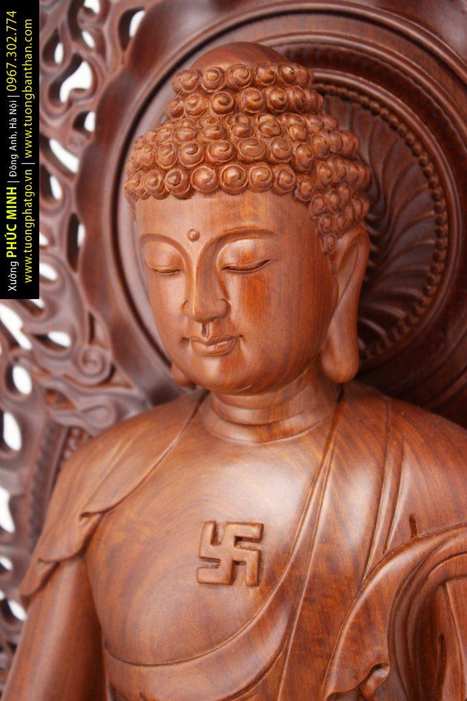 Tượng Phật Thích Ca theo mẫu Mật tông cao 75cm