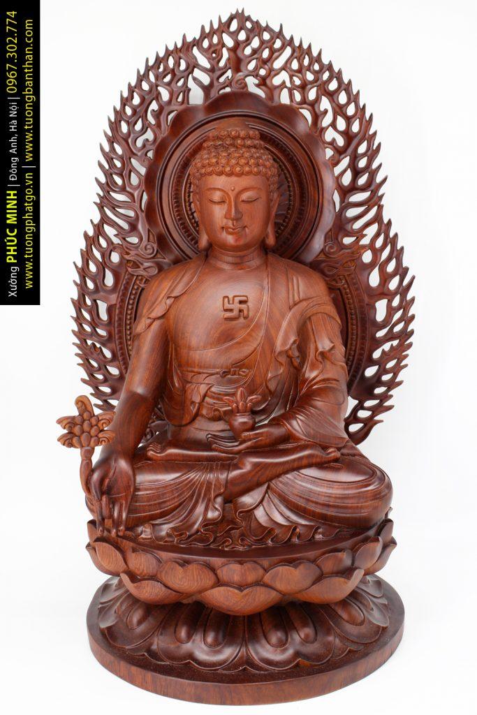 Bộ tượng Thất Phật Dược Sư (5 Bộ Thủ Ấn) dựa trên tranh vẽ cổ Mạn Đà La cách đây hàng trăm năm