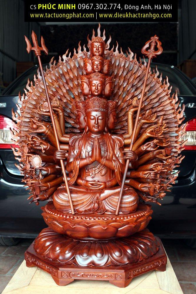 Tôn tượng Thiên thủ Thiên nhãn Thập nhất Diện Quán Thế Âm Bồ tát 42 thủ ấn Mật tông cao từ 82cm – 3.6m, phiên bản duy nhất Việt Nam.