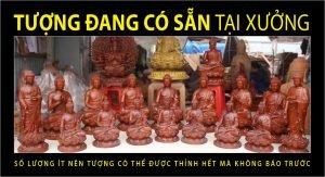 Tượng Phật có sẵn tại Xưởng tượng Phật gỗ Phúc Minh